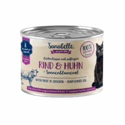 Sanabelle - Sanabelle Hrana Umeda Pentru Pisici cu Vita si Pui