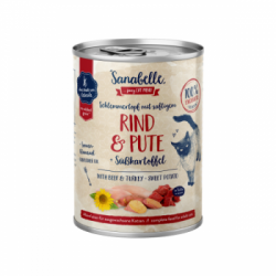 Sanabelle - Sanabelle Hrana Umeda Pentru Pisici cu Vita si Curcan