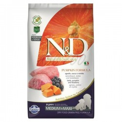 N&D - N&D GF Pumpkin Puppies Medium Maxi Lamb & Blueberries