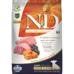 N&D - N&D Dog Grain free Pumpkin Lamb and Blueberry Puppy Mini