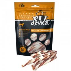 Pet's  Dessert - Pet's Dessert Chicken&Cod Sandwich Recompense Caini
