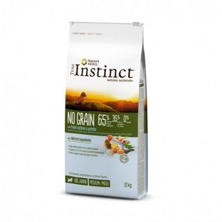 True Instinct - True Instinct Dog No Grain Medium Maxi Puppy Cu Somon