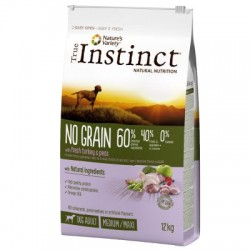 True Instinct - True Instinct Dog No Grain Medium-Maxi Cu Curcan Si Mazare