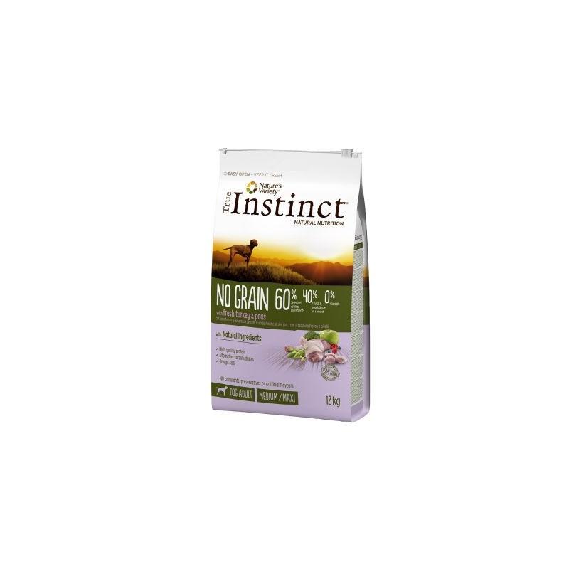 True Instinct - True Instinct Dog No Grain Medium-Maxi Cu Curcan Si Mazare