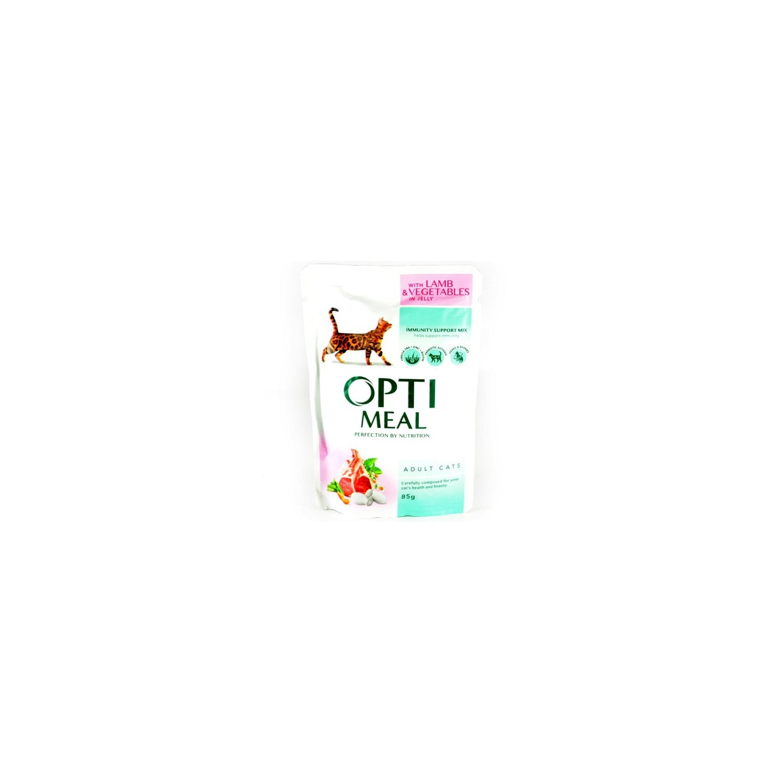 Optimeal - Optimeal Cat miel si legume in jeleu
