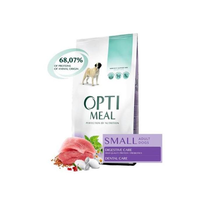 Optimeal - Optimeal Hrana uscata cu rata pentru caini adulti talie mica