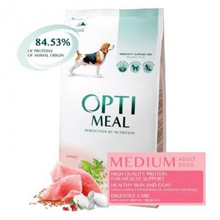 Optimeal - Optimeal Hrana Super Premium pentru caini adulti talie medie cu curcan