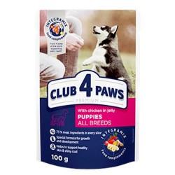 Club 4 Paws - Club 4 Paws Hrana umeda premium cu pui in jeleu pentru pui de catei