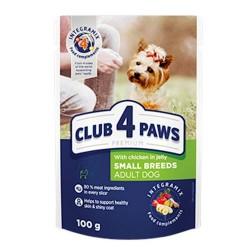 Club 4 Paws - Club 4 Paws Hrana umeda premium cu pui in jeleu pentru caini adulti
