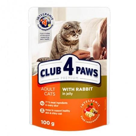 Club 4 Paws - Club 4 Paws Hrana umeda completa cu iepure in jeleu pentru pisici adulte