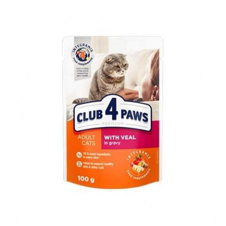Club 4 Paws - Club 4 Paws Hrana umeda completa cu vita in sos pentru pisici adulte