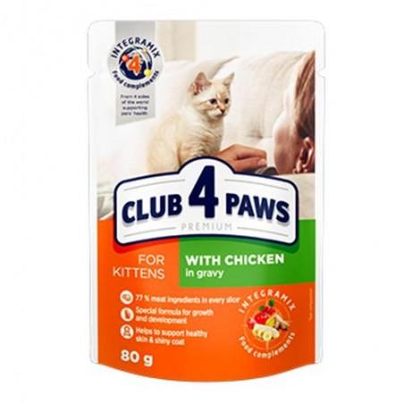 Club 4 Paws - Club 4 Paws Hrana umeda completa cu pui sos pentru pui de pisica