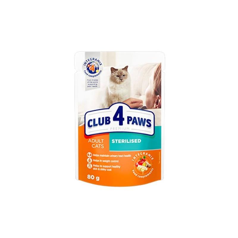 Club 4 Paws - Club 4 Paws Hrana umeda completa pentru pisici sterilizate