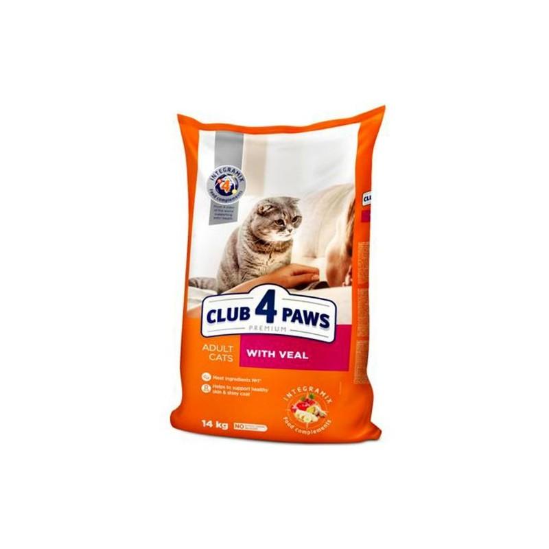 Club 4 Paws - Club 4 Paws Hrana Premium cu vitel pentru pisici adulte
