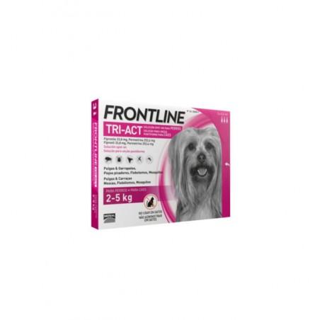 Frontline - Frontline Tri-Act Spot-On Antiparazitar uz extern pentru caini cu greutatea intre 2 si 5 kg