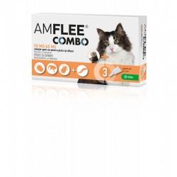 KRKA - Amflee Combo Cat pentru utilizare impotriva infestatiilor cu purici si capuse