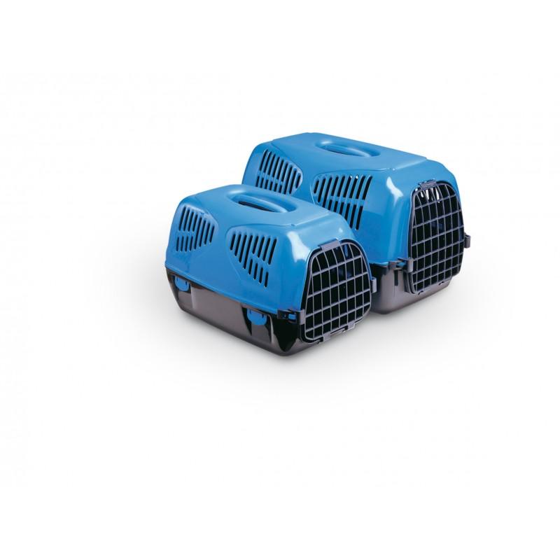 - MPS Cusca Transport Sirio Big Negru / Albastru, Cusca din plastic pentru transportul cainilor