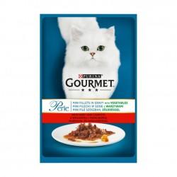 Gourmet - Gourmet Perle cu vita, morcovi si legume, hrana umeda pentru pisici
