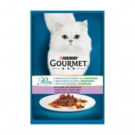 Gourmet - Gourmet Perle cu vanat si legume in sos, Hrana umeda pentru pisici