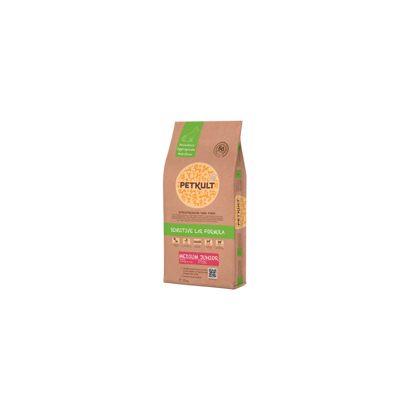 Petkult - Petkult Sensitive Medium Junior cu miel si orez