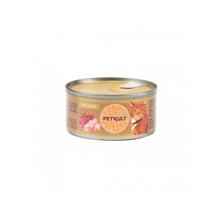 Petkult - Petkult Hrana umeda pentru pisici cu ton si pui