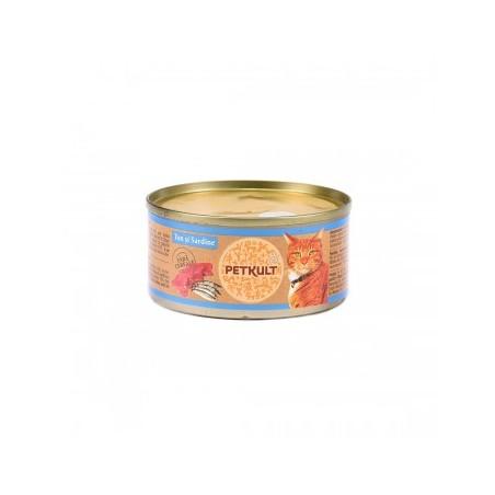Petkult - Petkult Hrana umeda pentru pisici cu ton si sardine