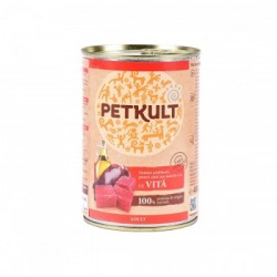 Petkult - Petkult Hrana umeda pentru caini adulti cu vita