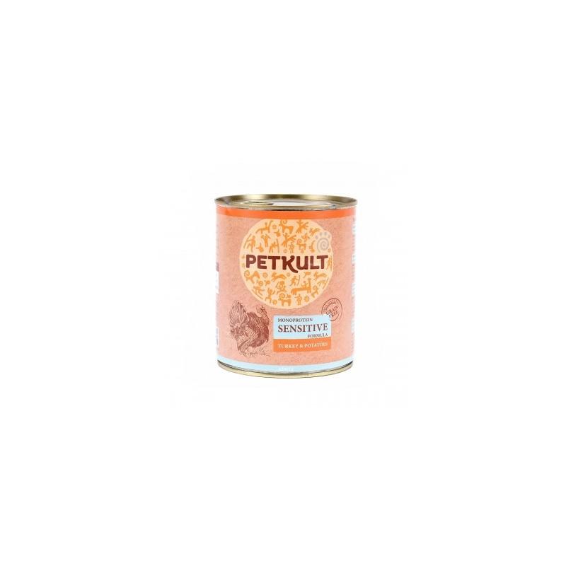 Petkult - Petkult sensitive cu curcan si cartof hrana umeda pentru caini adulti