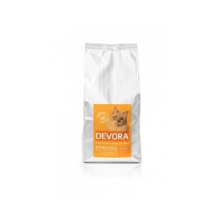Devora - Devora Grain Free Sterilizat cu curcan, pui si hering