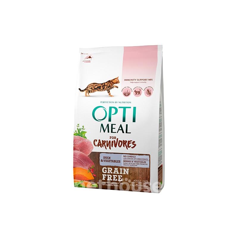 Optimeal - Optimeal Cat Grain Free cu Rata si Legume