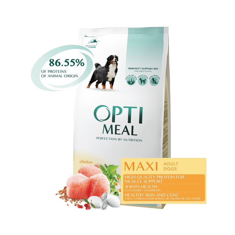 Optimeal - Optimeal Dog Adult Large Breeds cu Pui