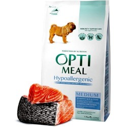 Optimeal - Optimeal Dog Adult Medium Hipoalergenic cu somon