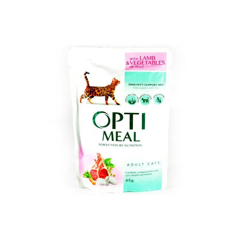 Optimeal - Optimeal Cat Miel si Legume in Jeleu