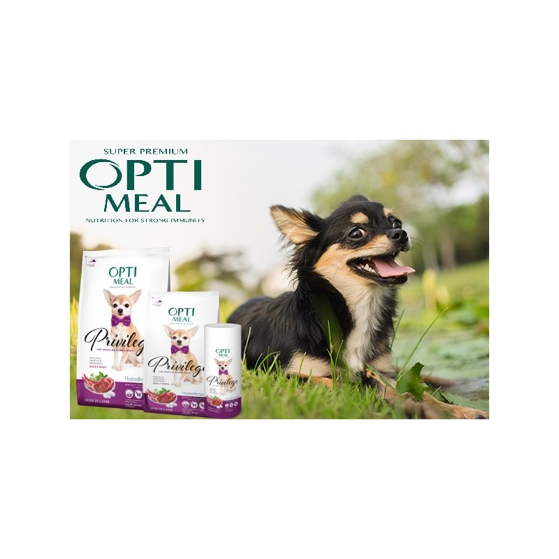 Optimeal - Optimeal Privilege Dog Hipoalergenic Mini Adult Miel si Orez